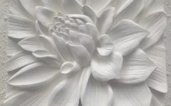 Blossom White 3D Wall Art