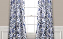 Cynthia Jacobean Room-Darkening Curtain Panel Pairs