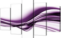 Purple Abstract Wall Art