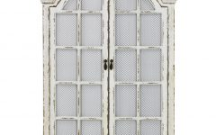 Window Cream Wood Wall Mirrors