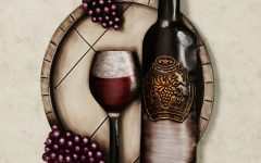 Wine and Grape Wall Art